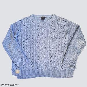 Polo Ralph Lauren blue open knit top size large